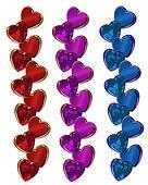 Valentine hearts borders