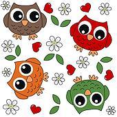 seamless owl background