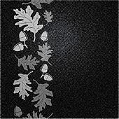 Oak leaf on denim