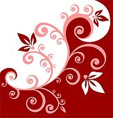 red curls background