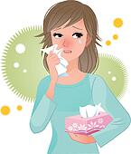 Woman suffering from pollen Allergi
