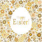 golden egg for happy easter