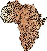 Camouflage geparda v Africa