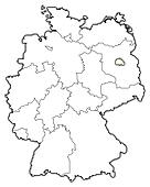 Map of Germany, Berlin highlighted