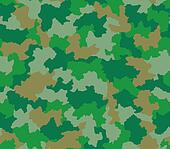 Green camouflage seamless pattern