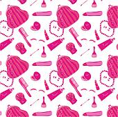 Pattern with women's clothes