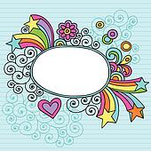 Groovy Picture Frame Border Vector