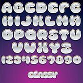 Glass Vector Font