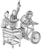 Fastest Communication Method of fax and bike