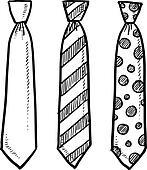 Neck tie sketch