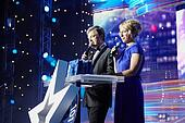 MOSCOW - FEBRUARY 2: Presenters of the presentation ceremony of
