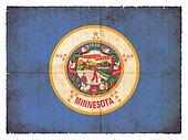 Grunge flag of Minnesota (USA)