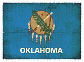 Grunge flag of Oklahoma (USA)