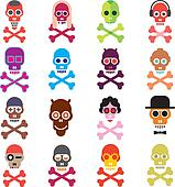 Skull - set of vector icons
