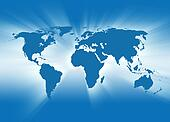 Blue Travel Earth Map Glowing