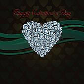 Heart of white diamonds