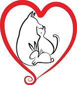 Pets and heart logo