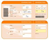 Boarding pass ticket concept