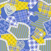 Seamless Crazy Quilt Pattern