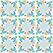 Seamless colourfull owl pattern for kids