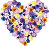 bouquet shaped heart