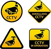 Video surveillance, set signs