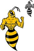 Powerful wasp or yellow hornet