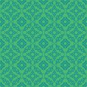 Seamless Bright Green Damask