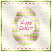 Happy Easter embroidery cross-stitch greeting card.