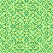 Seamless Bright Green Damask