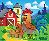 Image with rooster theme 2