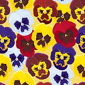 Background of pansies