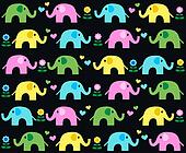 seamless elephant background