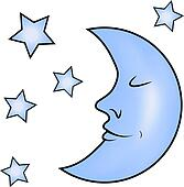 Blue Moon Clip Art - Royalty Free - GoGraph