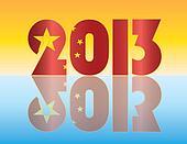 China Flag 2013 Silhouette Illustration
