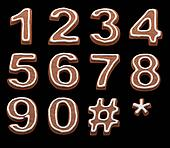 gingerbread numbers isolated