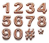 gingerbread numbers isolated with c