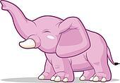 Elephant Raising Its Trunk