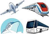 Travel Transportation Set - Airplan