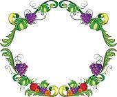 A border made of vine fruits
