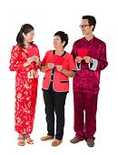 chinese family with ang pow