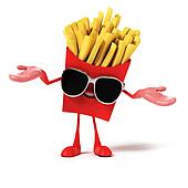 Food character - french fries