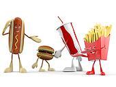 Food character - fast food