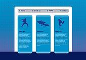 Website template with break dance