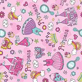 Fairytale Princess Seamless Pattern