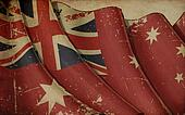Australian Red Ensign Old Paper