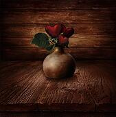 Valentines design - Heart Flowers