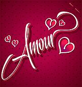 AMOUR hand lettering (vector)