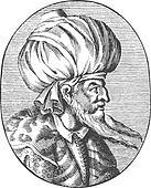 Enraved portrait of Sultan Orhan Gazi