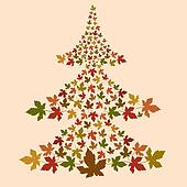 Christmas leaf tree